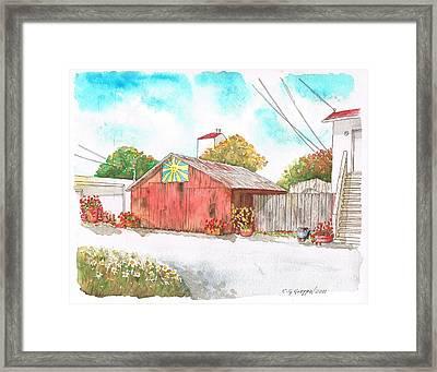 Old Barn In Lompoc, California Framed Print by Carlos G Groppa