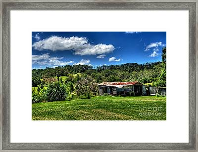Old Barn In Lush Green Countryside Framed Print by Kaye Menner