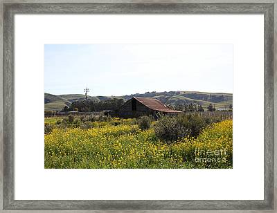 Old Barn In Sonoma California 5d22234 Framed Print by Wingsdomain Art and Photography