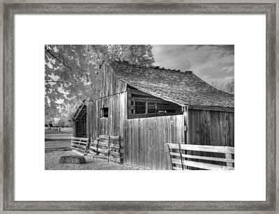 Old Barn Framed Print by Jane Linders