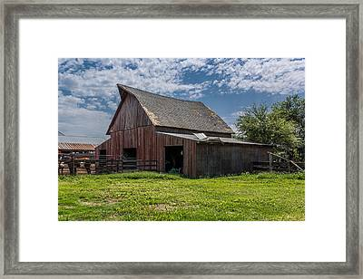 Framed Print featuring the photograph Old Barn by Jay Stockhaus