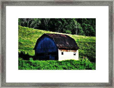 Old Barn Landscape Framed Print by Chastity Hoff