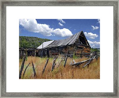 Old Barn Las Trampas New Mexico Framed Print