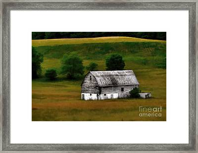 Framed Print featuring the photograph Old Barn Near Buckhannon by Dan Friend