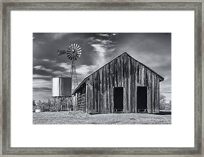 Old Barn No Wind Framed Print by Mark Myhaver