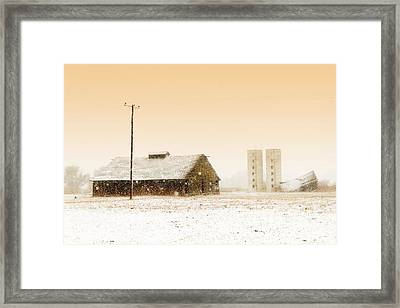 Old Barn On Highway 6 Framed Print
