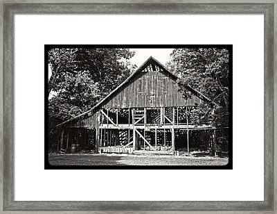 Old Barn On Hwy 161 Framed Print by KayeCee Spain
