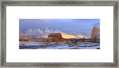 Old Barn On Mormon Row Framed Print