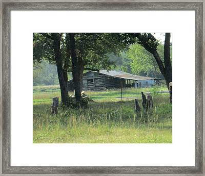 Old Barn Framed Print by Rosalie Klidies