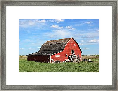 Framed Print featuring the photograph Old Barn by Ryan Crouse