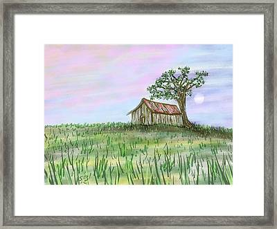 Old Barn Framed Print by Stacy C Bottoms