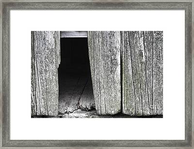 Old Barn Wall Framed Print by Olivier Le Queinec