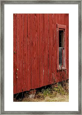 Framed Print featuring the photograph Old Barn Window by Debbie Karnes