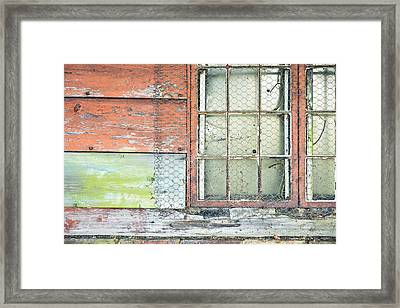 Old Barn Window Framed Print by Tom Gowanlock