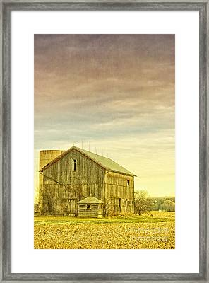 Old Barn With Silo Framed Print by Birgit Tyrrell
