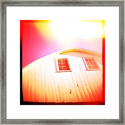 Old Barn Framed Print by Yo Pedro
