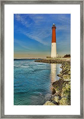 Old Barney At Sunrise - Barnegat Lighthouse Framed Print by Lee Dos Santos