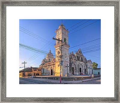 Old Baroque Beauty Of Granada - Iglesia La Merced Framed Print by Mark E Tisdale