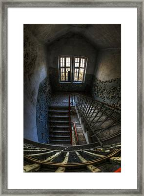 Old Barracks Stairs Framed Print by Nathan Wright