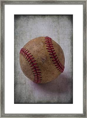 Old Baseball Framed Print by Garry Gay