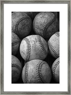 Old Baseballs Framed Print by Garry Gay