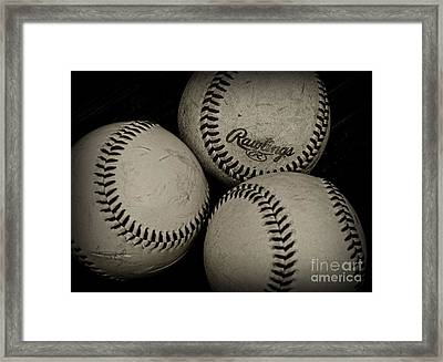 Old Baseballs Framed Print by Paul Ward