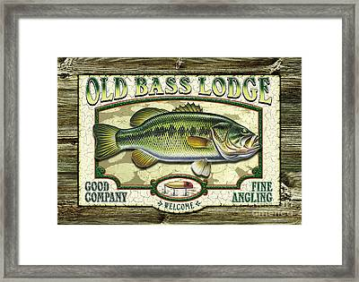 Old Bass Lodge Framed Print by JQ Licensing