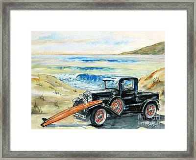 Old Beach Buggy Framed Print by William Reed