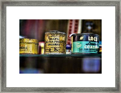 Old Bean Framed Print by Heather Applegate