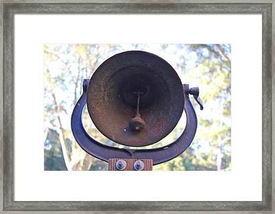 Old Bell Framed Print by Lorna Maza