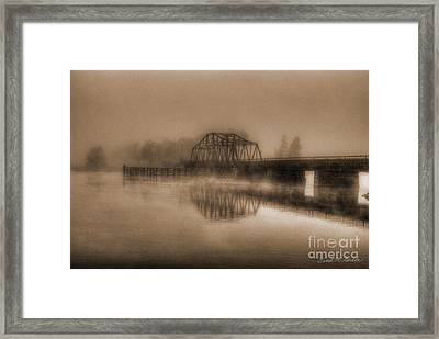 Old Berkley Dighton Bridge Framed Print