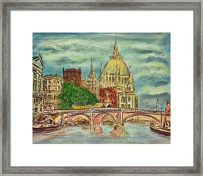 Old Berlin - Painting Framed Print by Gynt Art