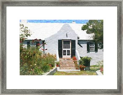 Framed Print featuring the photograph Old Bermuda Home by Verena Matthew