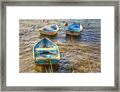 Framed Print featuring the photograph Old Bermuda Rowboats by Verena Matthew