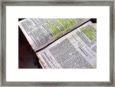 Old Bible Framed Print