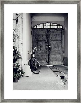 Old Bicycle Framed Print by Jelena Jovanovic