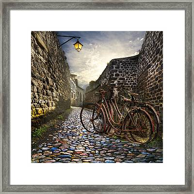 Old Bicycles On A Sunday Morning Framed Print