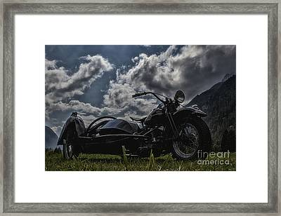 Old Bike In High Contrast Framed Print by Fabian Roessler