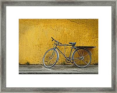 Framed Print featuring the photograph Old Bike by Kim Andelkovic