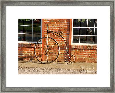 Framed Print featuring the photograph Old Bike by Mary Carol Story