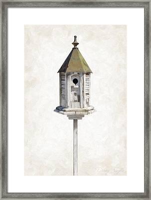 Old Birdhouse Framed Print by Danny Smythe