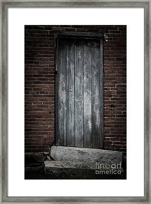 Old Blacksmith Shop Door Framed Print by Edward Fielding