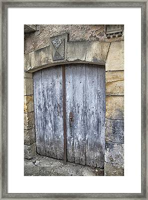 Old Blue Door In South-west France Framed Print