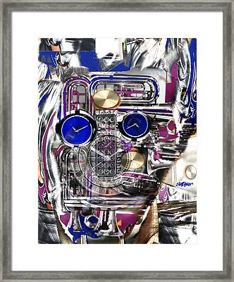 Framed Print featuring the digital art Old Blue Eyes by Seth Weaver