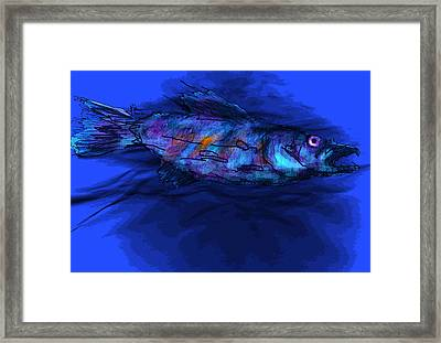 Framed Print featuring the mixed media Old Blue by Jim Vance