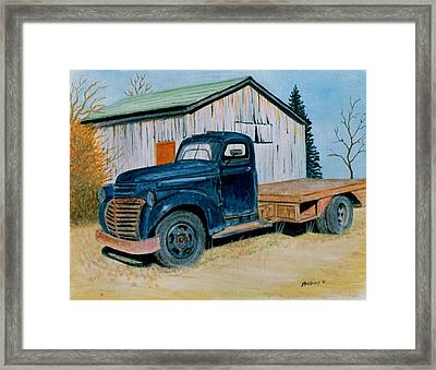 Framed Print featuring the painting Old Blue by Stacy C Bottoms