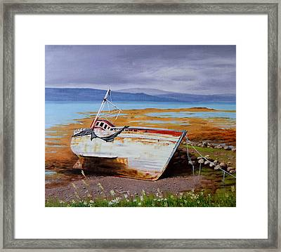 Old Boat Framed Print by Lepercq Veronique
