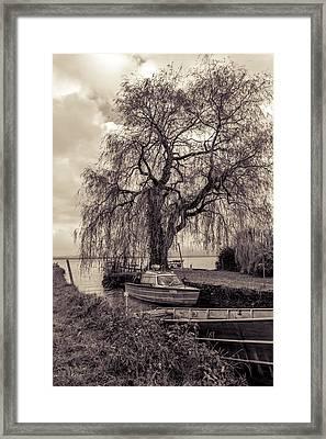 Old Boat Framed Print by Marie Sullivan