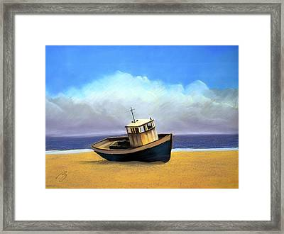 Old Boat - Pastel Framed Print by Ben Kotyuk