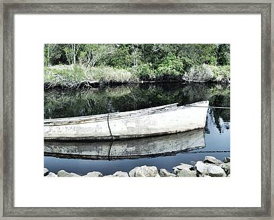 Old White Boat Framed Print by Patricia Januszkiewicz